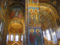 inside the Church of the Saviour on the Blood