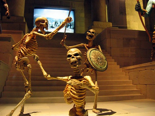 Harryhausen Skeletons by muckster