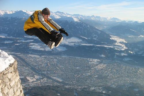 Jump across Innsbruck