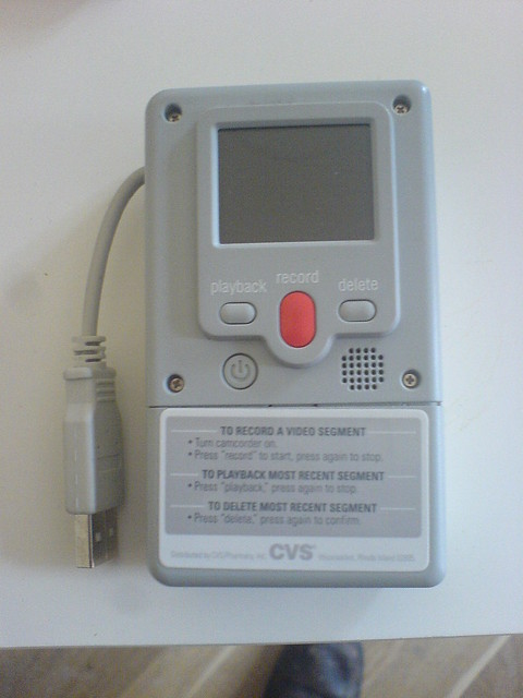 front of cvs disposable digital camcorder