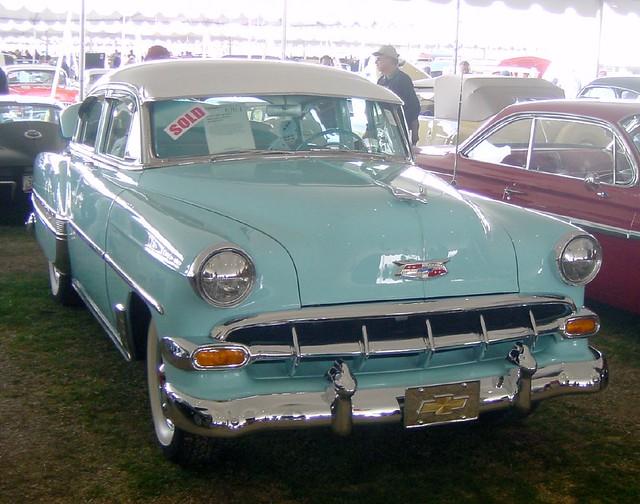 1954 chevrolet belair 4 door hardtop barrett jackson for 1954 belair 4 door sedan