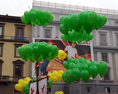festival, green, inflatable, balloon,