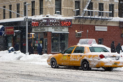 Snowy Cab by CarbonNYC, on Flickr