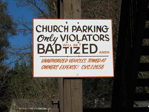 Church Parking Sign.