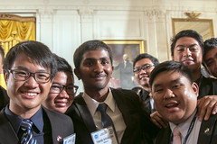 Participants in the Young Southeast Asian Leaders Initiative (YSEALI) participate in a Town Hall with President Barack Obama at the White House in Washington, D.C., on June 1, 2015. [State Department photo by Pat Barkhuff/ Public Domain]