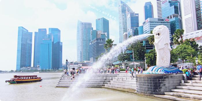 新加坡地標 新加坡好玩 魚尾獅公園 merlion park 新加坡地鐵0-