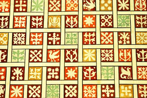 Soest St. Maria zur Höhe Hohnekirche Sandstein Grünsandstein Malereien Deckenmalerei Fresken Ornamentik Ornament farbenfroh bunt mittelalterliches Schatzkästlein Reisebilder Impressionen Foto Brigitte Stolle