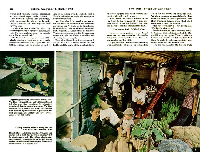 National Geographic September 1964 - Slow Train Through Viet Nam's War (2) - by Howard Sochurek