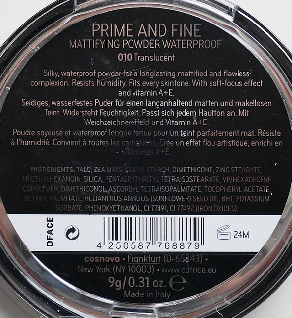 Catrice Cosmetics Prime and Fine Mattifying Powder Waterproof