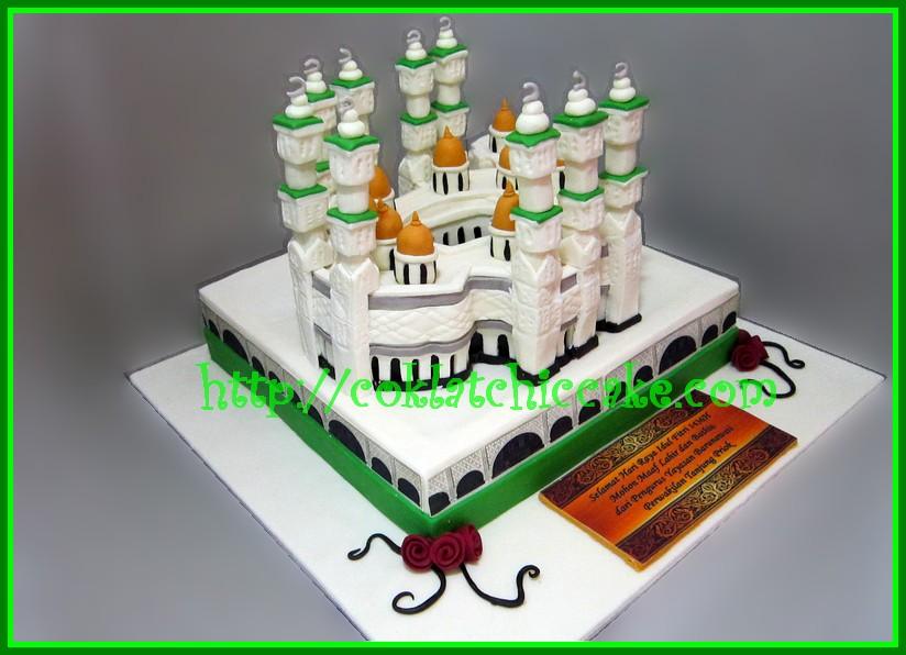 Cake Mesjid / cake lebaran