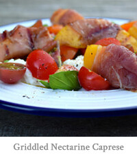 Prosciutto Wrapped Griddled Nectarine Caprese Starter