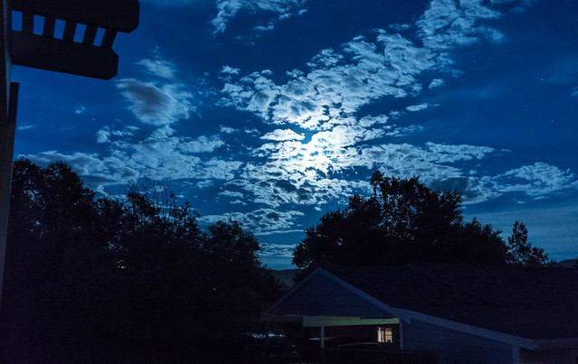 Blue Moon Behind Clouds 2