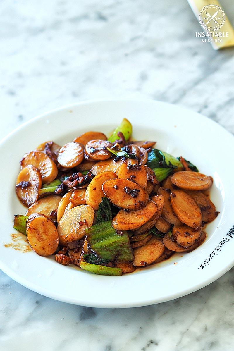 New Shanghai, Bondi: Sydney Food Blog Review: Stir fried Chinese rice cake with X.O. sauce & shredded pork, $14.40