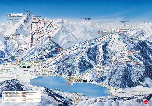 Zell am See Kaprun - mapa sjezdovek