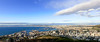 Cape Town docks and city bowl from Signal Hill - Panorama