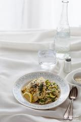 Summer Risotto Pea Zucchini Avocado Lemon Herb San…