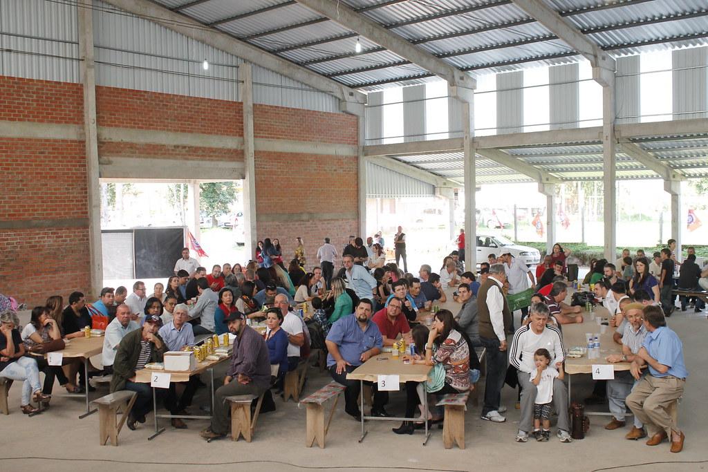 Posse reuniu representantes de vários movimentos socoais na sede da Coopan, no Assentamento Capela, em Nova Santa Rita. Foto - Leandro Molina.JPG