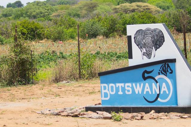 Botswana 50 logo