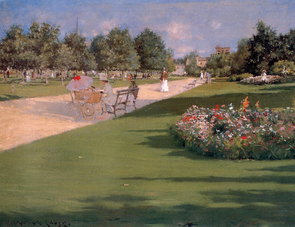 Tompkins Park, Brooklyn by William Merritt Chase,1887