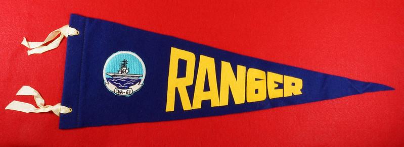 RD15149 Vintage USS Ranger CVA-61 Pennant DSC08470