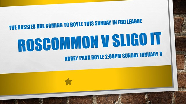 Roscommon v Sligo IT