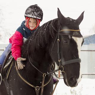 Фотографии во время конной прогулки