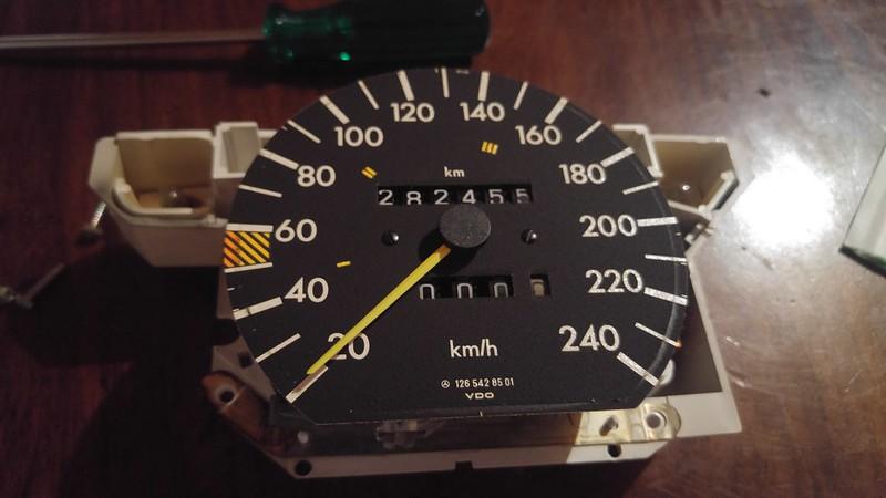 W126 Odometer Repair