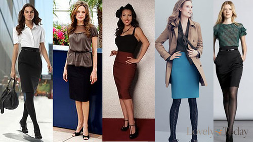 Stylish with Pencil Skirts