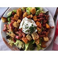 meal, breakfast, panzanella, vegetable, food, dish, cuisine, caesar salad,