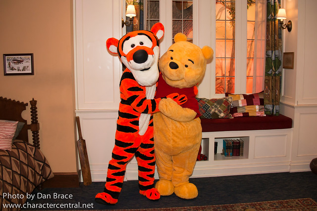 Meeting Pooh and Tigger