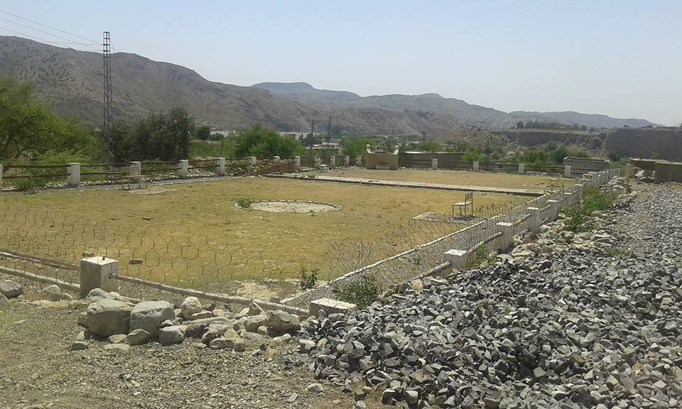 The place where a park is being established after removing the house of the ex-TTP chief Hakimullah Mehsud (Photo by: Khan Zeb Mehsud)