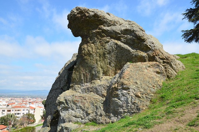 The Weeping Rock in Mount Sipylus, Manisa, Turkey, known as Niobe's Rock, a rock in the shape of a weeping woman, which the ancient Greeks believed to be Niobe