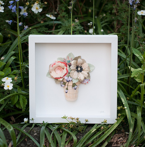Framed Paper Flowers by Tara Galuska