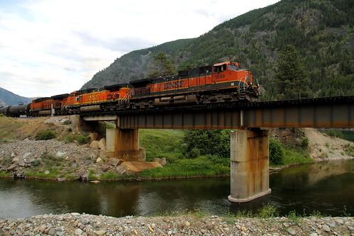 santa bridge 2 3 heritage burlington train river 1 montana track trains canyon rails fe northern ge bnsf mrl montanaraillink