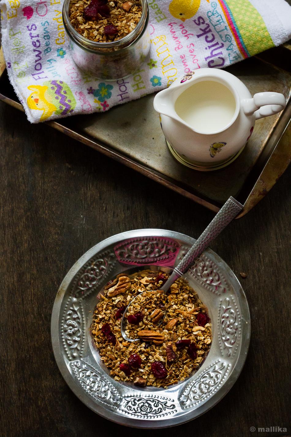 Pecan, Cranberry, Coconut Granola
