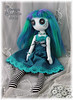 Button eyed art doll Tara Topaz