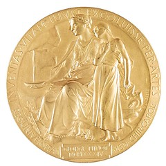 Minot Nobel prize medal reverse