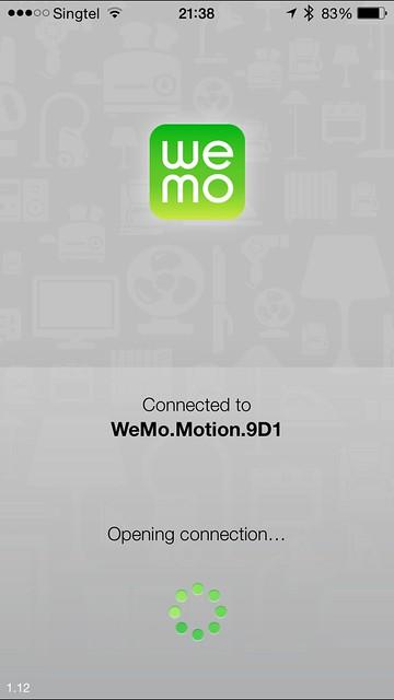 WeMo iOS App - Motion Setup