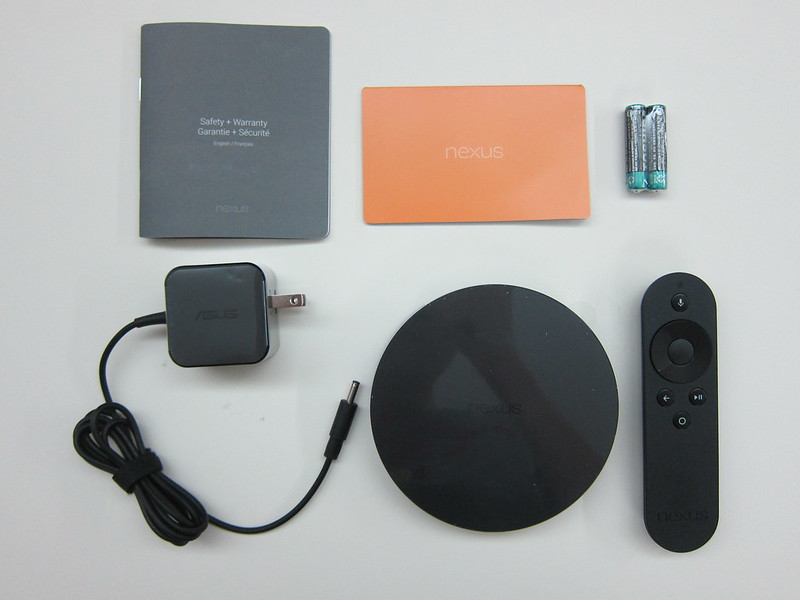 Nexus Player - Box Contents