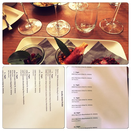 Große Orbel Probe von St. Antony mit tollen reifen Rieslingen. #Wein #Riesling #stantony #kleinschmecker