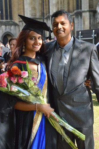 Lavannya Manickam and her father