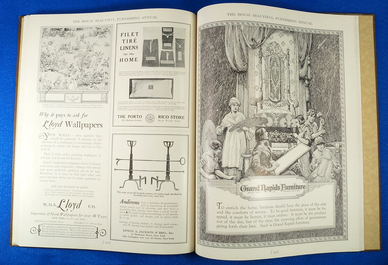 RD1041 1926 The House Beautiful Furnishings Annual Atlantic Monthly Company Interior Design DSC08685