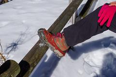 新調したチェーンスパイク・・・このクラスの雪山には、とても歩きやすいですね