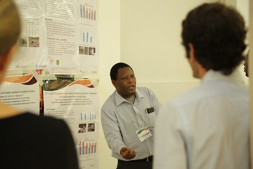 Augustine Ayantunde (ILRI). Photo credit: Jonathan Odhong'/ IITA