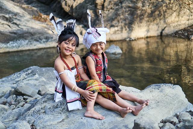 Kids in Kuki attire