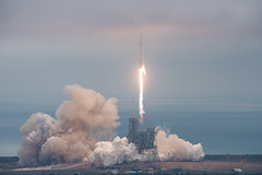 Falcon 9 and Dragon lift off from Launch Pad 39A for CRS-10
