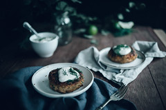Quinoa Salmon Fish Cakes with Ginger & Roasted…
