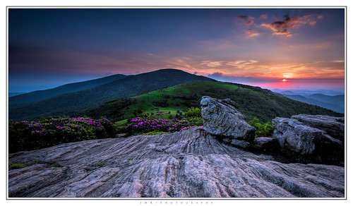 longexposure sunset summer outcrop mountains beautiful rock landscape spring nikon tennessee northcarolina rhododendron bloom appalachian blueridge appalachiantrail balds 1635mm roanmountain carversgap roundbald d810 singhray grassybald roanmountainstatepark roanhighlands janebald jmkphotography