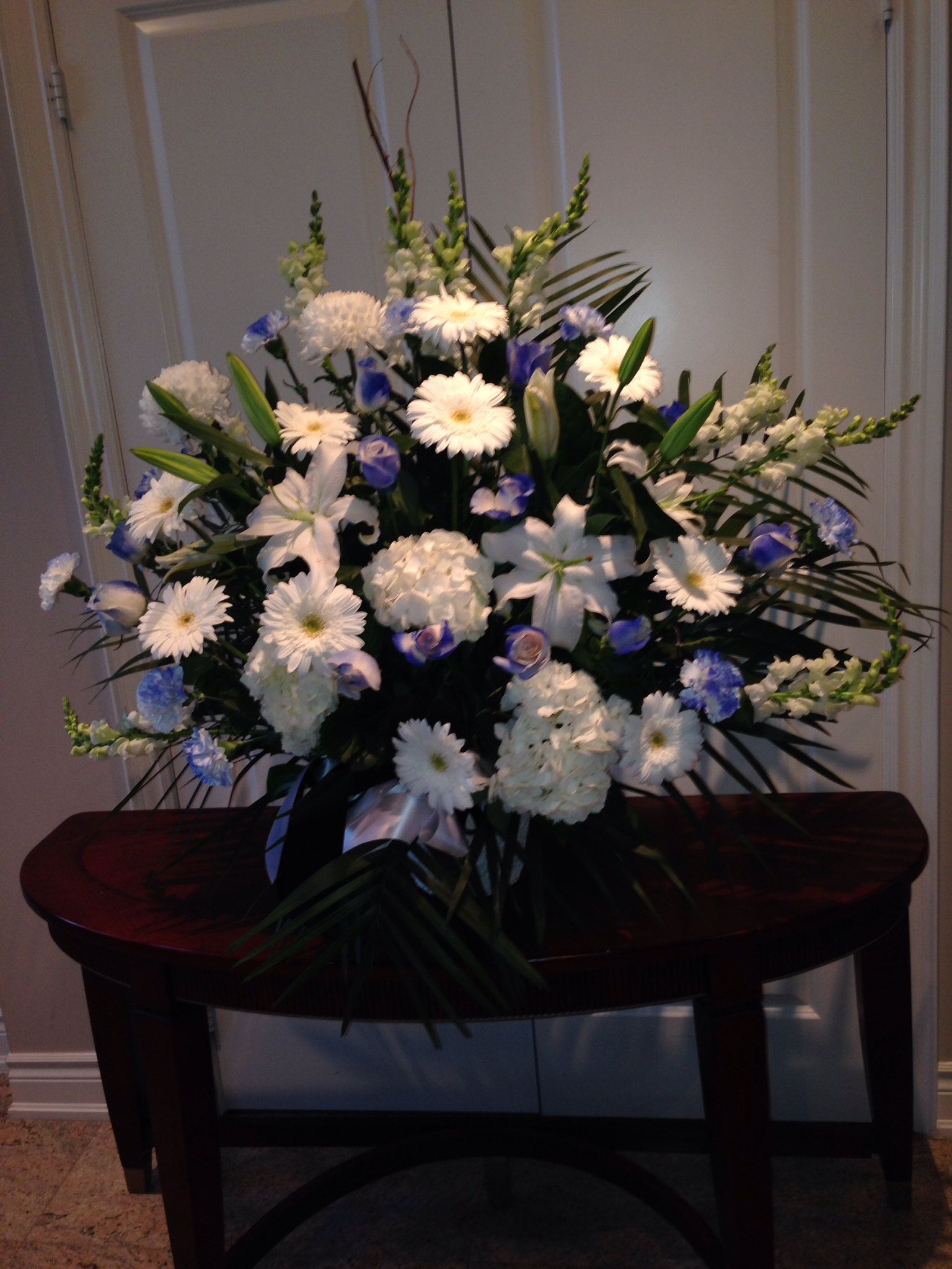 Funeral basket $180.