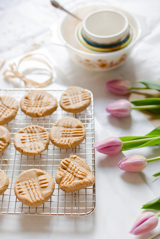 Peanut Butter Cookies with Oat Flour